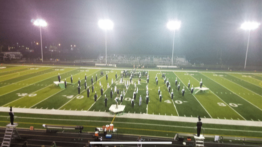 Marching band at Half Time